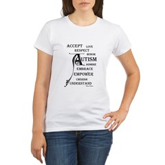 Autism love & Awareness Organic Women's T-Shirt