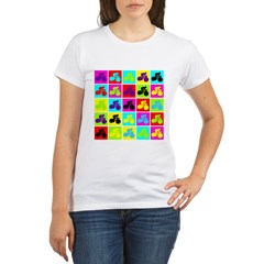 Pop Art Cyclist Organic Women's T-Shirt