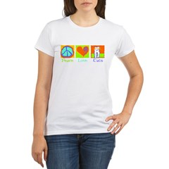 Peace Love Cats Organic Women's T-Shirt