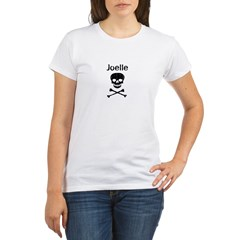 Joelle (skull-pirate) Organic Women's T-Shirt