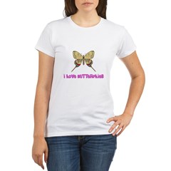 I Love Butterflies Organic Women's T-Shirt