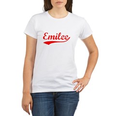 Vintage Emilee (Red) Organic Women's T-Shirt