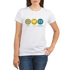 Peace Love Railways Organic Women's T-Shirt