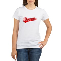 Retro Baron (Red) Organic Women's T-Shirt