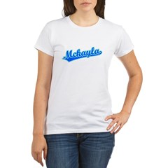 Retro Mckayla (Blue) Organic Women's T-Shirt