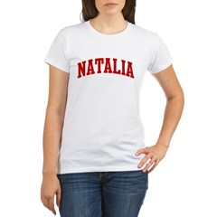 NATALIA (red) Organic Women's T-Shirt