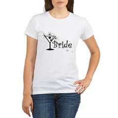 Black Curly Martini Bride Organic Women's T-Shirt