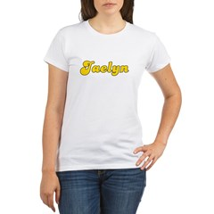 Retro Jaelyn (Gold) Organic Women's T-Shirt