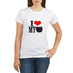 heartblackberry-new4.jpg Organic Women's T-Shirt