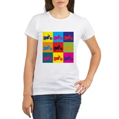 Biking Pop Art Organic Women's T-Shirt