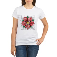 Red Rose Organic Women's T-Shirt