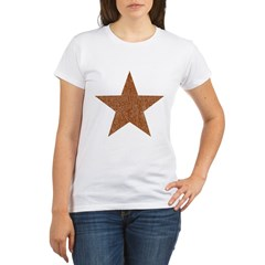 Distressed Red Star Organic Women's T-Shirt