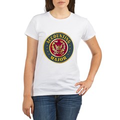Accounting Major College Course Organic Women's T-Shirt