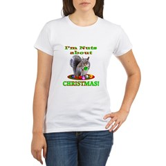 Squirrel Christmas Organic Women's T-Shirt