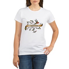 Knitting Scroll Organic Women's T-Shirt