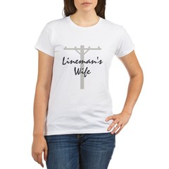 Lineman's wife Organic Women's T-Shirt