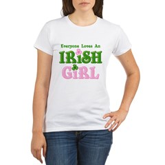 Loves An Irish Girl Organic Women's T-Shirt