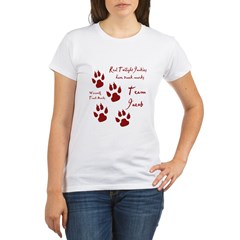 "Twilight Junkies ""Werewolf Tracks"" Organic Women's T-Shirt"