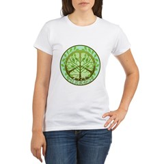 Peaceful Tree Hugger Organic Women's T-Shirt