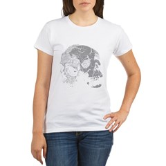 Skulls Double Time Organic Women's T-Shirt