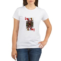 Queen of Hearts Organic Women's T-Shirt