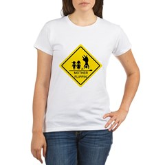 Mother Flippin' Yield Sign Organic Women's T-Shirt