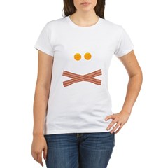 Eggs Bacon Skull Organic Women's T-Shirt