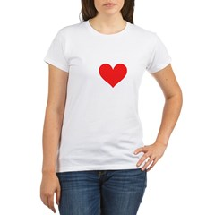 I Heart Volleyball: Organic Women's T-Shirt