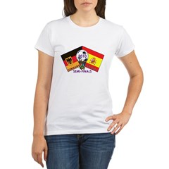 Germany vs. Spain 2010 Soccer Organic Women's T-Shirt