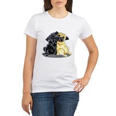 Black Fawn Pug Organic Women's T-Shirt
