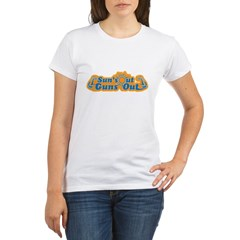 Suns out guns out -- Men Organic Women's T-Shirt