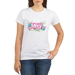 Cross Country Pink Organic Women's T-Shirt
