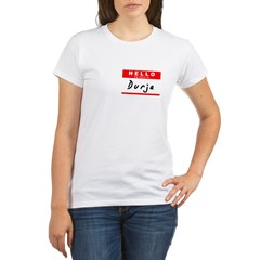 Durja, Name Tag Sticker Organic Women's T-Shirt