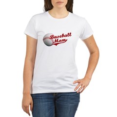 Baseball_Mom Organic Women's T-Shirt