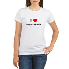 I LOVE NORTH CAROLINA Organic Women's T-Shirt