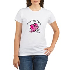 Team Tough Titties-Knockin Out Breast Cancer Organic Women's T-Shirt