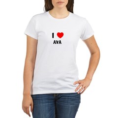 I LOVE AVA Organic Women's T-Shirt