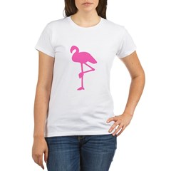 Hot Pink Flamingo Organic Women's T-Shirt