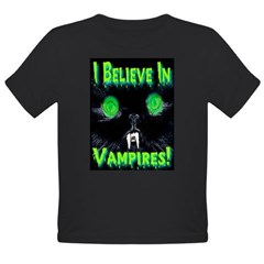 I Believe In Vampires Creepy Organic Toddler T-Shirt (dark)