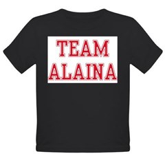 TEAM ALAINA Organic Toddler T-Shirt (dark)