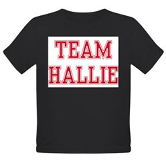 TEAM HALLIE Organic Toddler T-Shirt (dark)