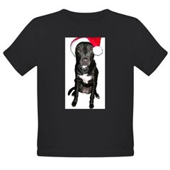Santa Dog Organic Toddler T-Shirt (dark)