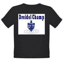DREIDEL CHAMP HANUKKAH Organic Toddler T-Shirt (dark)