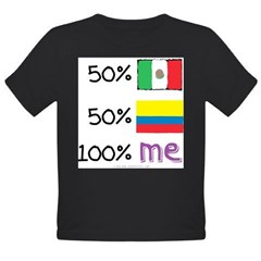 Mexican/Colombian Flag Organic Toddler T-Shirt (dark)