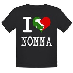 I Love Nonna Organic Toddler T-Shirt (dark)