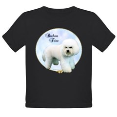 Bichon Portrait Organic Toddler T-Shirt (dark)