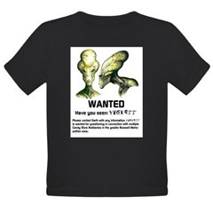 Universe's Most Wanted Yellow Organic Toddler T-Shirt (dark)
