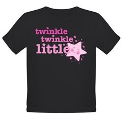 Twinkle Star Pink Organic Toddler T-Shirt (dark)