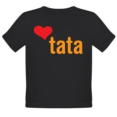 volim tata (I love dad) Organic Toddler T-Shirt (dark)