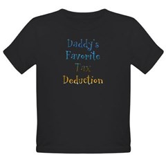 Daddy's Favorite Organic Toddler T-Shirt (dark)